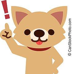 perro, señalar el dedo