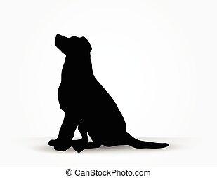 perro, silueta