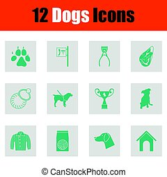 perros, icono, conjunto