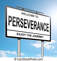 persévérance, concept.