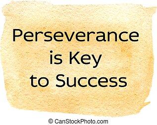 persévérance, illustration
