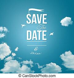 persönlich, datum, feiertag, retten