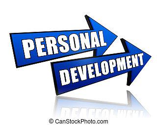 persönlich, entwicklung, pfeile