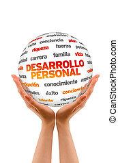 persönlich, entwicklung, wort, kugelförmig, (in, spanish)