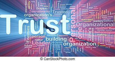 persönlich, glühen, begriff, vertrauen, hintergrund