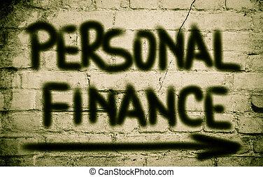 persönliche finanz, begriff
