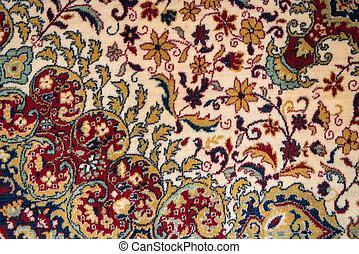 persa, textura, tapete