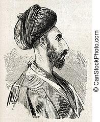 persan, homme, isfahan