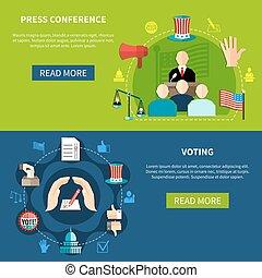 persconferentie, concept, verkiezingen, regering