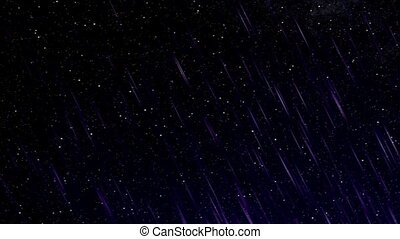 Perseid meteor shower - Meteor rain on the starry sky. Mix...