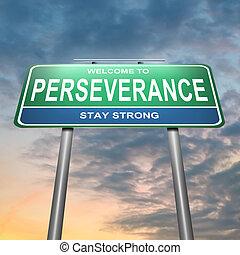 perseverancia, concept.