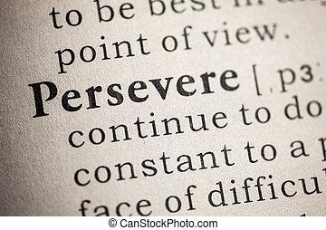 perseverare