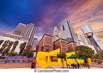 Pershing square in downtown Los Angeles