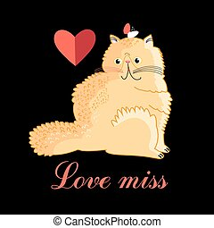Persian cat in love