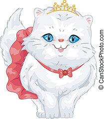 Persian Cat Tiara - Illustration of a Cute Persian Cat...