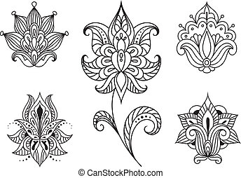 Persian floral paisley embellishments