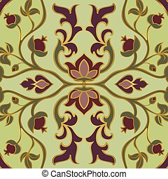 Persian floral pattern. - Colorful, floral ornament....