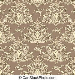 Persian floral seamless background pattern