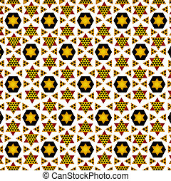 Persian mosaic tile illustration