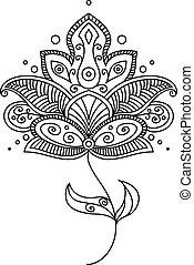 Persian paisley flower design