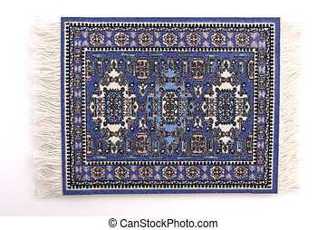 Persian Rug 1 - A miniature Persian rug. (isolated, 12MP...