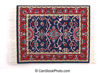 Persian Rug 2 - A miniature Persian rug. (isolated, 12MP ...