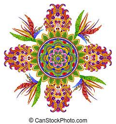 Persian rug- a Spring Garden Cross