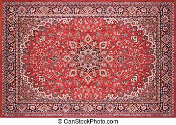 Persian Rug Carpet - Full view of a persian rug carpet from...
