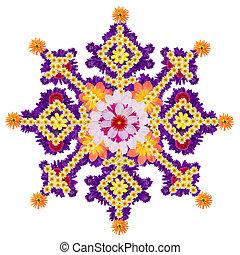 Persian rug- water garden blue star