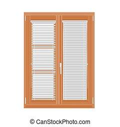 persianas, diseño, moderno, ventana
