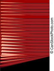 persianas, fundos, vermelho