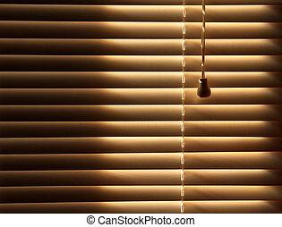 persianas venecianas, cerrado, plano de fondo