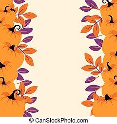 persika, lätt, pumpor, flygare, bakgrund, apelsin gräns, template.