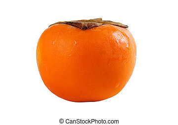 Persimmon fruit fresh isolated