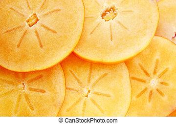 persimmon fruit slices