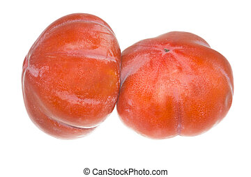 Persimmon Isolated on the White