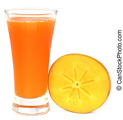 Persimmon juice with fresh fruits