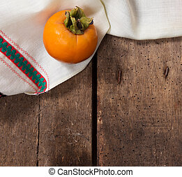 Persimmon on the table