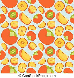 persimmon seamless pattern for wallpaper or wrapping paper