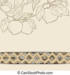 Persimmon seamless pattern vector