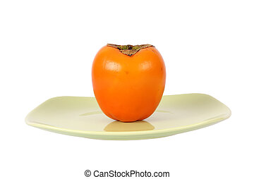 persimmons isolated on a white background