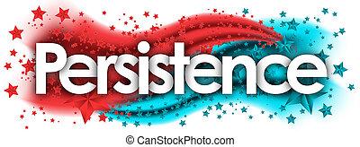 persistência, colorido, estrelas, fundo, palavra