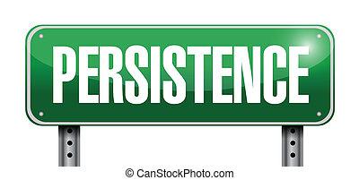 persistance, signe, illustration