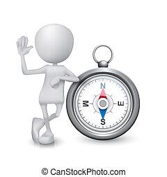 person, 3, kompas