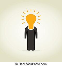 Person a bulb