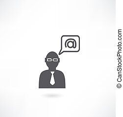person and e-mail icon