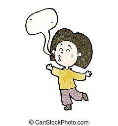 person, cartoon, prancing