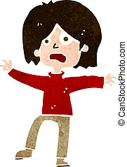person, cartoon, ulykkelige