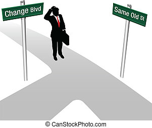 Person Choose Same or Change Decision