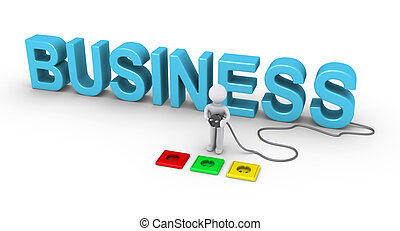Person choosing socket for business - 3d person choosing the...